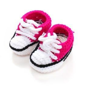 🌸 Newborn Crochet Booties, Knit Baby High Shoes🌸